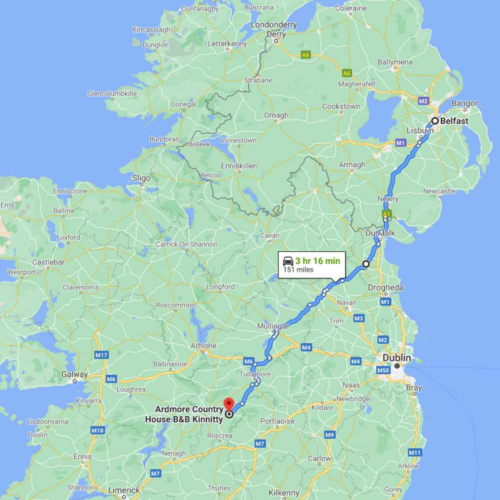 Google Map Location Ardmore Country House B and B